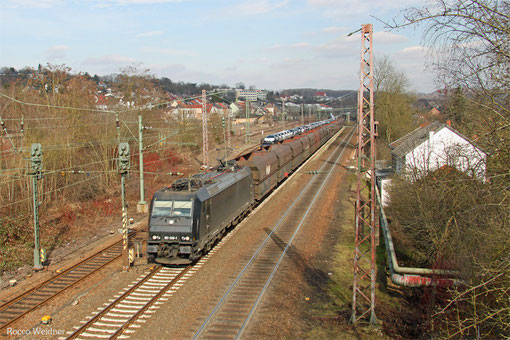 185 569 mit DGS 91046 Neunkirchen(Saar) Hbf - Moers Gbf, Sulzbach(Saar) 06.03.2015