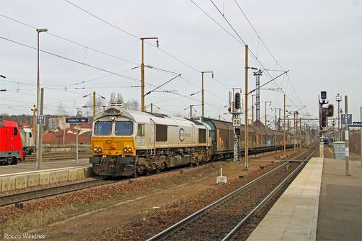 ECR 77 015 mit 44226 Saarbrücken Rbf West - Les Aubrais-Orléans/F (EV,Tiernarung), Forbach/F 08.03.15
