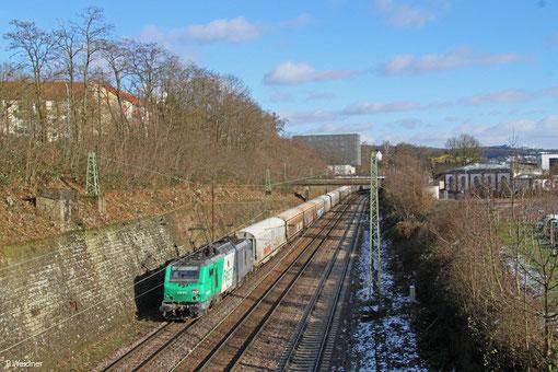 BB37015 mit DGS 44424 Worms Gbf - Forbach/F, Saarbrücken 04.02.2015