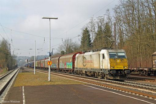 ECR 186 344 mit GA 46105 (Cerbère) Forbach/F - Mannheim Rbf Gr.M, Dudweiler 11.03.2015