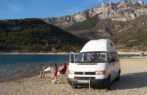 VW T4 réhaussé / Lac de Ste Croix