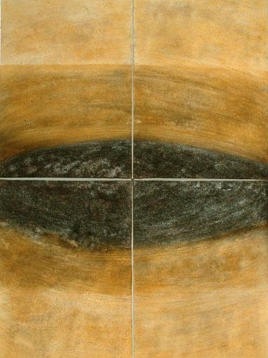 Ojo - Tierra, 2006, 160 x 120cm (4x 80x60 cm), auf Leinwand