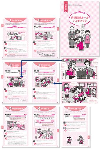 社内用パンフレット(2色刷) イラスト