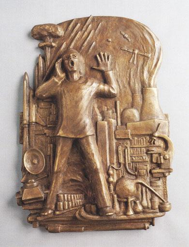 DER RUFER IN DER WÜSTE 2001, Bronze, Höhe 69 cm