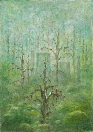 SCHATTEN 1985, Öl auf Leinwand, 50 x 70 cm