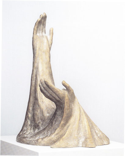 DER DU DIE MENSCHEN LÄSSEST STERBEN UND SPRICHST: KOMMT WIEDER, MENSCHENKINDER (PSALM 90) 2004, Bronze, Höhe 64 cm
