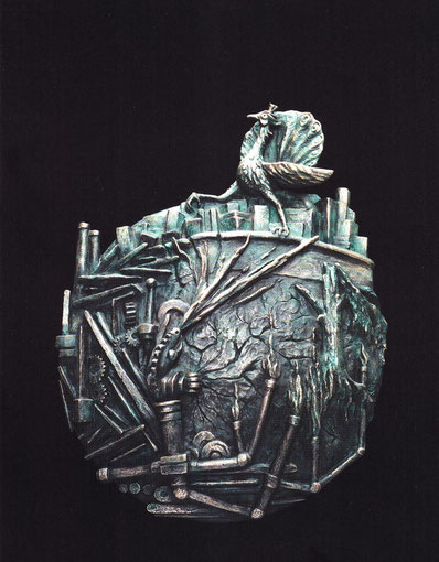 TANZ AUF DEM VULKAN 2002, Bronze, Höhe 73 cm