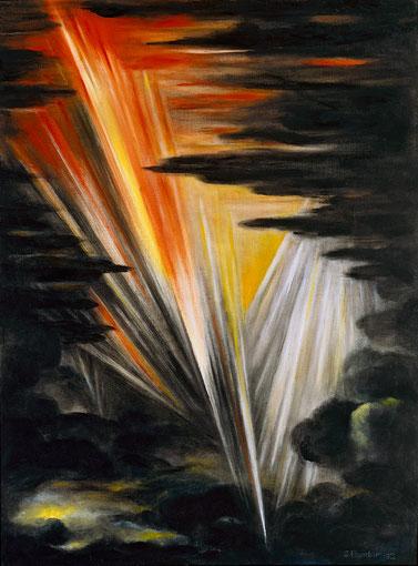 DIES IRAE 1992, Öl auf Leinwand, 75 x 100 cm
