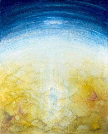 DER LETZTE MENSCH 1986, Öl auf Leinwand, 80 x 100 cm