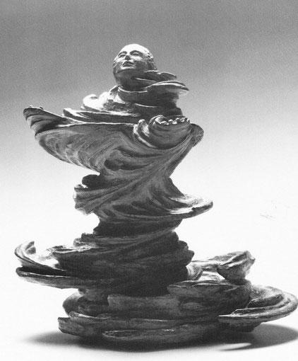 IM ZEITGESCHEHEN 1991, Bronze, Höhe 45 cm