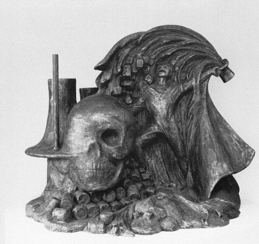DER ZAUBERLEHRLING 1983, Bronze, Höhe 44 cm