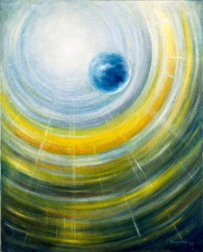 DER NEUE TAG 1989, Öl auf Leinwand, 80 x 100 cm