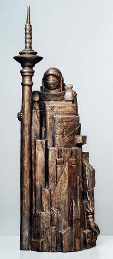 RITTER, TOD UND TEUFEL 2004, Bronze, Höhe 95 cm