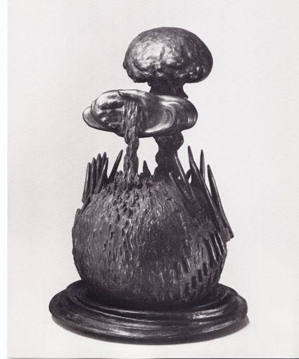 DER VERRATENE PROMETHEUS 1982, Bronze, Höhe 60 cm