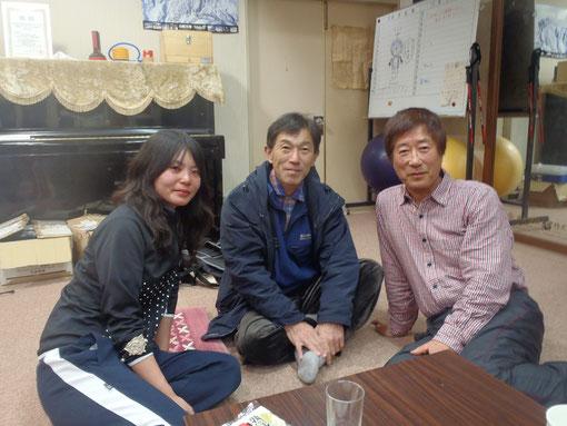 松下先生、管理人さん、横川さん