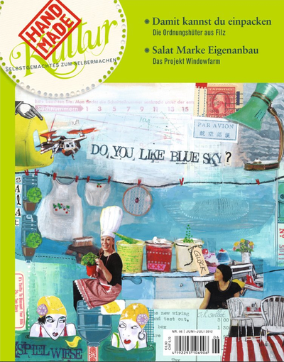 Cover Handmade Kultur Juni-Juli 2012_ Illustration Christine Hohenstein