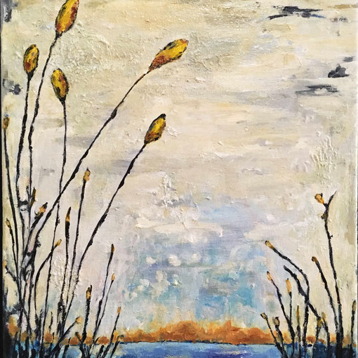 """""""A Walk with Nature""""  12x16 framed acrylic on canvas $175"""
