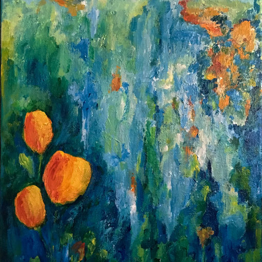 """""""The Essence of Spring""""  12x16 framed acrylic on canvas $175"""