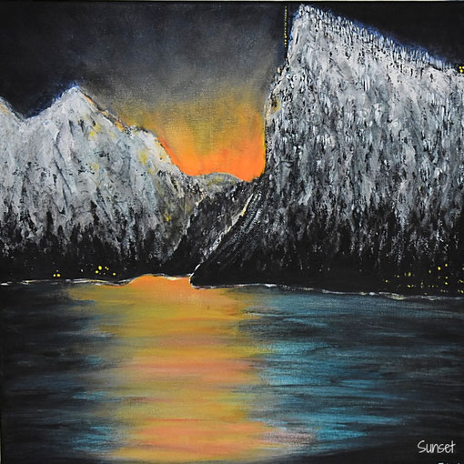 Sunset (Acryl, 50x50)