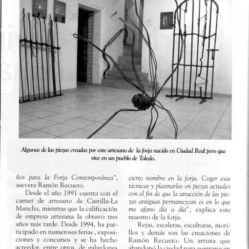 Ramón Recuero Ibáñez La afición por la forja le vino cuando tan solo tenía once años de edad  nota de prensa