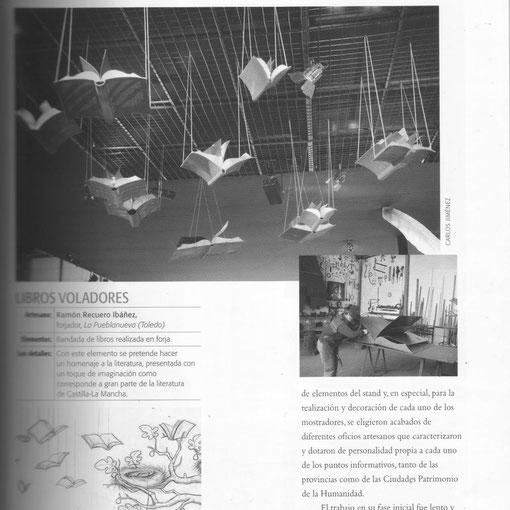Artesano Ramón Recuero Libros voladores Fitur Feria de turismo  nota de prensa