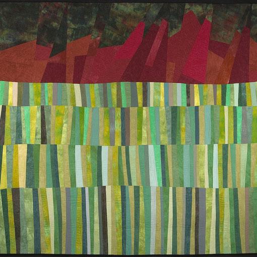 """Before Boulder"" Art Quilt by Amy Mundinger, 72 x 72"""