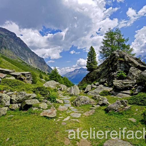 «Berglandschaft» I, auf der Via Engiadina, zwischen Maloja u.Silvaplana