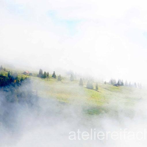 Berghütte im Nebel, Rigi, Luzern, CH