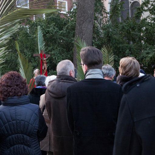 Die Prozession am Palmsonntag 2012 in Sankt Maria in Lyskirchen (Foto: Anna C. Wagner)
