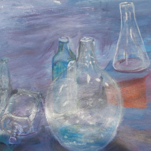 travail du verre a l'acrylique