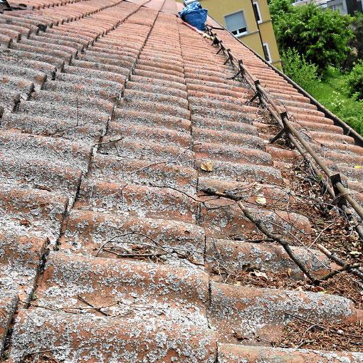 Dachziegelreinigung und Rinnenreinigung lässt das Wasser schnell abfliessen