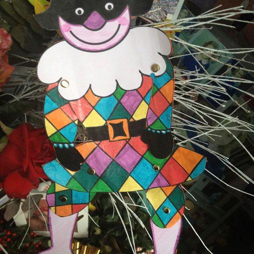 Carnevale 2012, un Arlecchino per Matilde dalla 3B