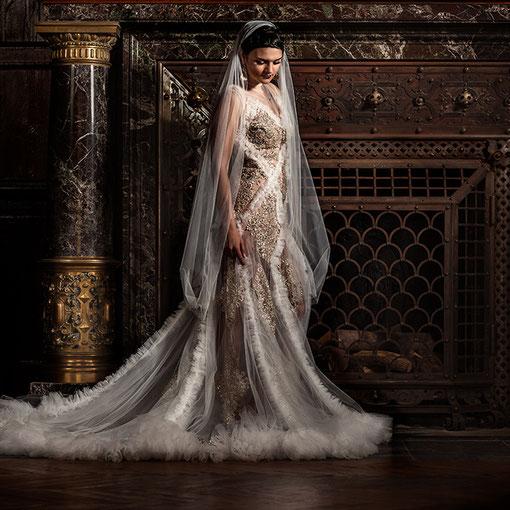Haute Couture Brautmode auf Schloss Hummelshain