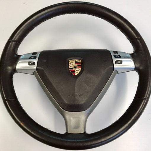 Volant Porsche d'origine en cuir cocoa lisse