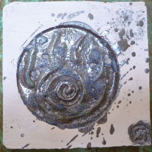 Sfumature (particolare) - ceramica raku sottoposta a terza cottura