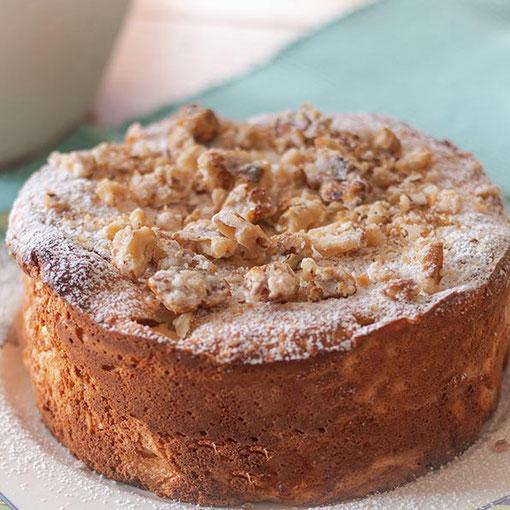 Kleiner Dinkelkuchen mit Äpfeln und Mandeln - Rezept © Jutta M. Jenning ♦ ww.mjpics.de