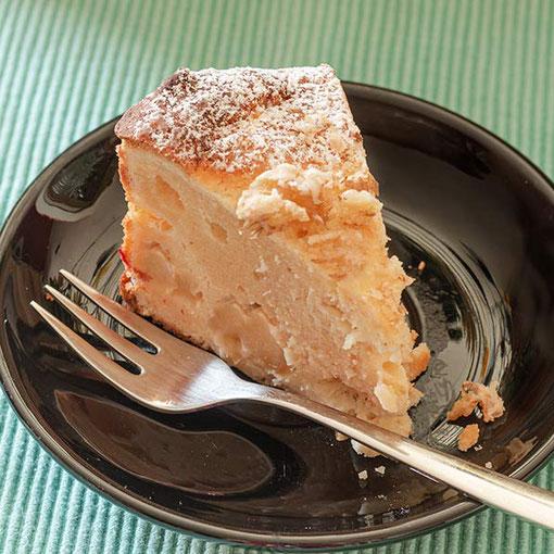 Kleiner Dinkelkuchen mit Äpfeln und Mandeln - Rezept