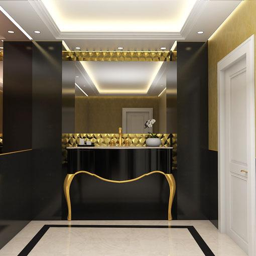 Infografía 3D de baños