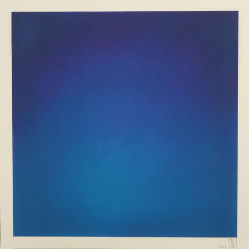 """""""Mystisches Blau"""", Öl auf Papier, 33 x 33 cm"""