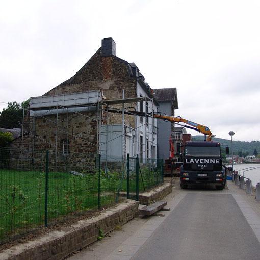 transforation à Profondeville en bord de Meuse - Chantier
