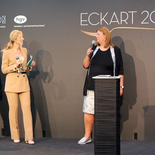 Margareth Pfeifer vom Pfannenstielhof beim kulinarischen Fachsymposium anlässlich des Eckart-Witzigmann-Preises 2020 Foto: Magdalener.wine/RoC