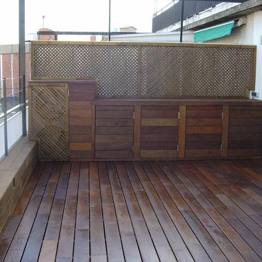 Terraza y armarios Ipe