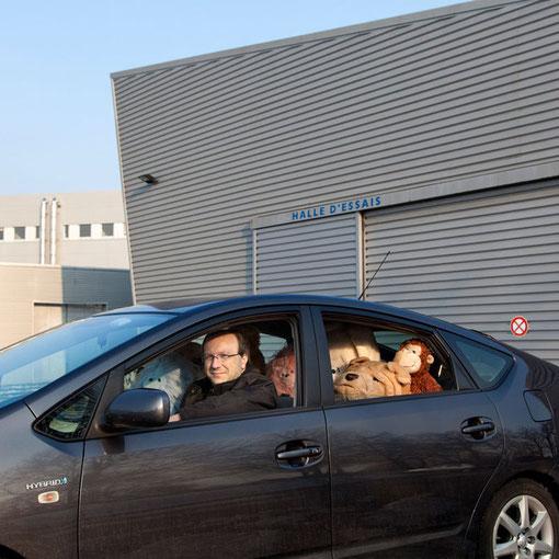 Universitarium #06 : chauffeur / voiture du Président / Campus Chantrerie / Université de Nantes