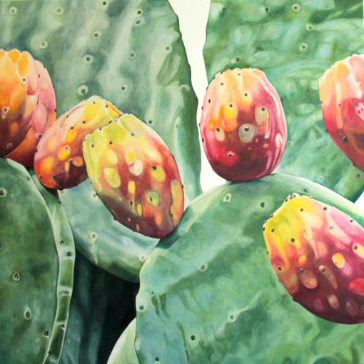 opuntia ficus indica VI 2017 100x90 oil/canvas