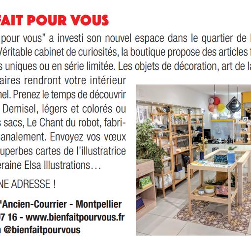 Article La Gazette - Décembre 2019