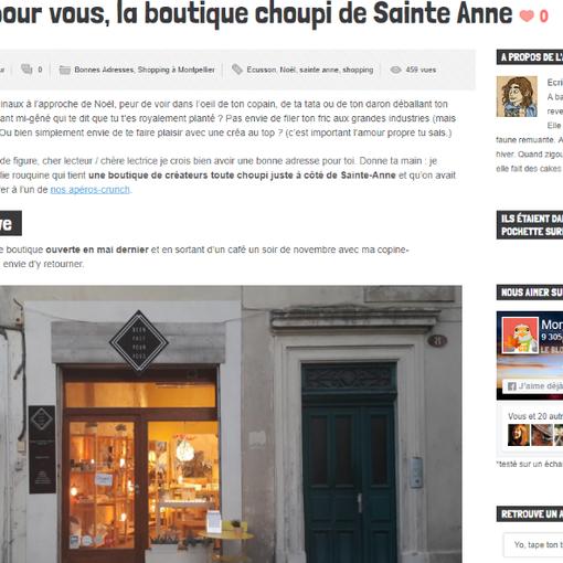 Article Montpellier City Crunch - Décembre 2017