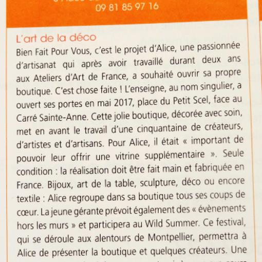 Sortir à Montpellier numéro n°1714 Février/Mars 2018