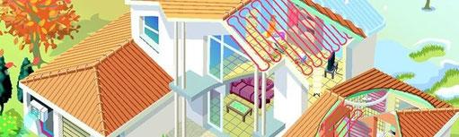 plafond et murs chauffants