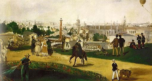《万博の鑑賞者》1867年
