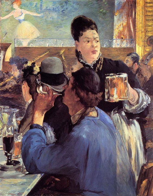 《カフェ演奏会の隅で》1880年